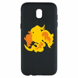 Phone case for Samsung J5 2017 Golden Phoenix - PrintSalon