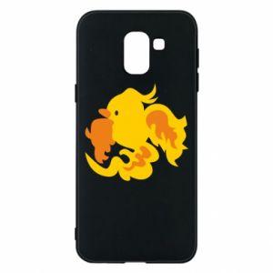 Phone case for Samsung J6 Golden Phoenix - PrintSalon