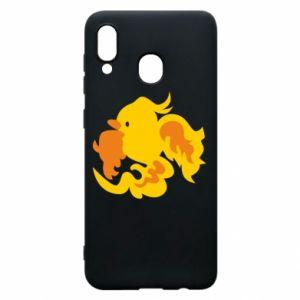 Phone case for Samsung A20 Golden Phoenix - PrintSalon