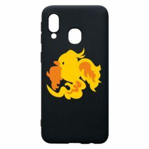 Phone case for Samsung A40 Golden Phoenix - PrintSalon