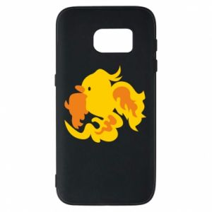 Phone case for Samsung S7 Golden Phoenix - PrintSalon