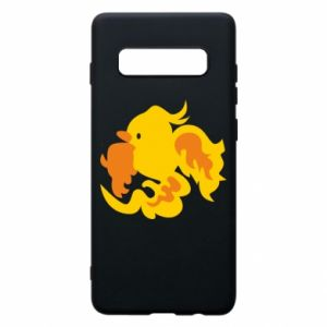 Phone case for Samsung S10+ Golden Phoenix - PrintSalon