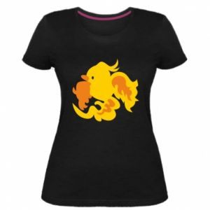 Women's premium t-shirt Golden Phoenix - PrintSalon