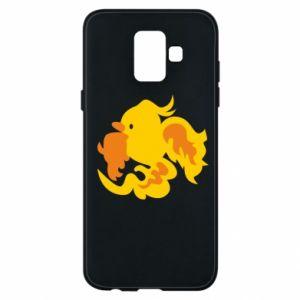 Phone case for Samsung A6 2018 Golden Phoenix - PrintSalon