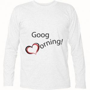 Koszulka z długim rękawem Good morning z sercem