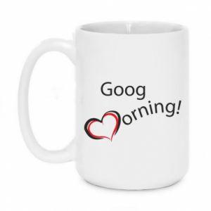 Kubek 450ml Good morning z sercem
