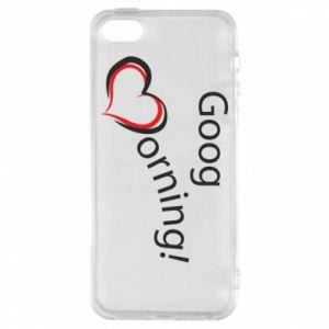 Etui na iPhone 5/5S/SE Good morning z sercem