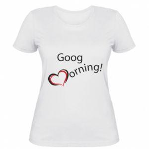 Damska koszulka Good morning z sercem