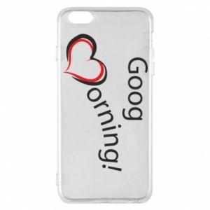 Etui na iPhone 6 Plus/6S Plus Good morning z sercem