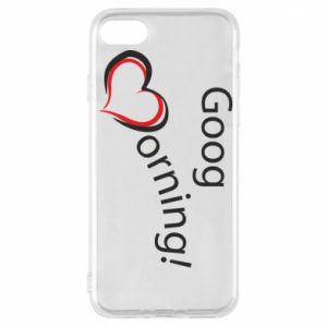 Etui na iPhone 7 Good morning z sercem