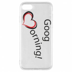 Etui na iPhone 8 Good morning z sercem