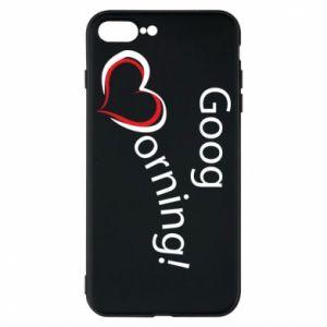 Etui na iPhone 8 Plus Good morning z sercem