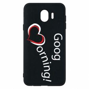 Etui na Samsung J4 Good morning z sercem