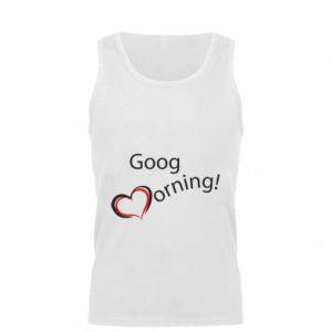 Męska koszulka Good morning z sercem