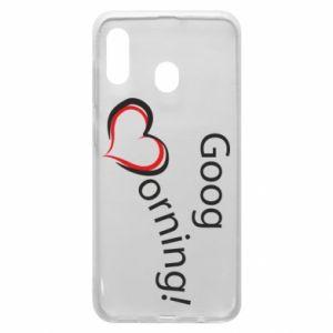 Etui na Samsung A30 Good morning z sercem