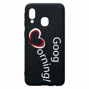 Etui na Samsung A40 Good morning z sercem