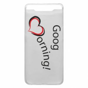 Etui na Samsung A80 Good morning z sercem