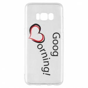 Etui na Samsung S8 Good morning z sercem