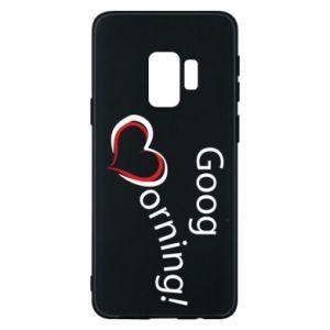 Etui na Samsung S9 Good morning z sercem