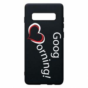 Etui na Samsung S10+ Good morning z sercem