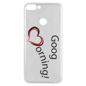 Etui na Huawei P Smart Good morning z sercem