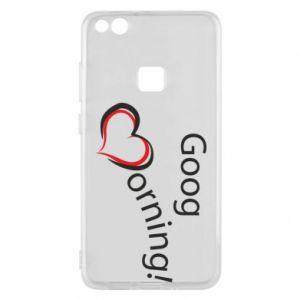 Etui na Huawei P10 Lite Good morning z sercem