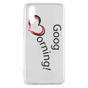 Etui na Huawei P20 Good morning z sercem