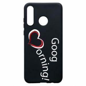 Etui na Huawei P30 Lite Good morning z sercem