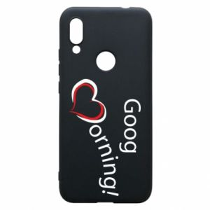 Etui na Xiaomi Redmi 7 Good morning z sercem