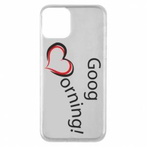 Etui na iPhone 11 Good morning z sercem