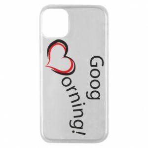 Etui na iPhone 11 Pro Good morning z sercem