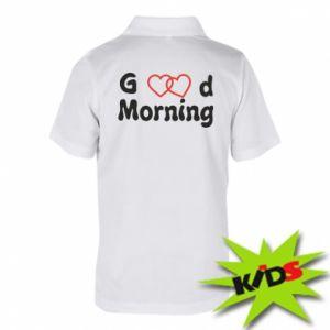 Dziecięca koszulka polo Good morning