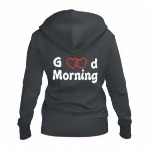 Damska bluza na zamek Good morning