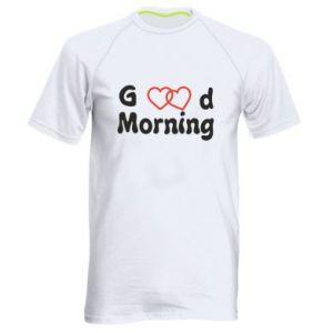 Męska koszulka sportowa Good morning