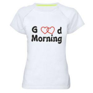 Damska koszulka sportowa Good morning