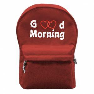 Plecak z przednią kieszenią Good morning