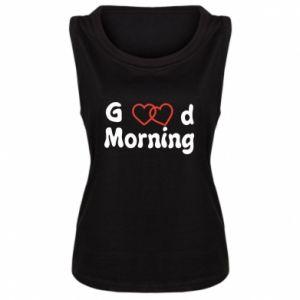 Damska koszulka bez rękawów Good morning