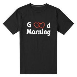 Męska premium koszulka Good morning