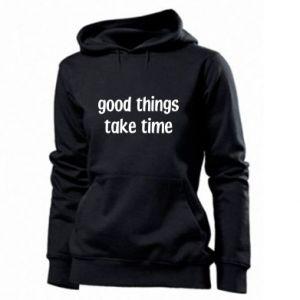 Bluza damska Good things take time