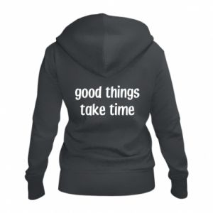Damska bluza na zamek Good things take time