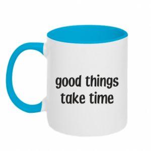 Kubek dwukolorowy Good things take time