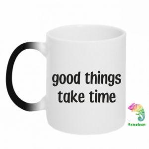 Kubek-kameleon Good things take time