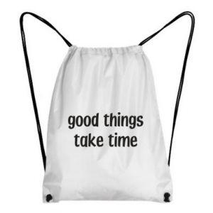 Plecak-worek Good things take time