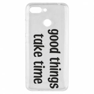 Etui na Xiaomi Redmi 6 Good things take time
