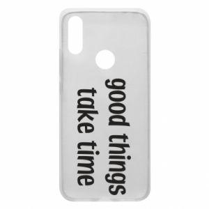 Etui na Xiaomi Redmi 7 Good things take time