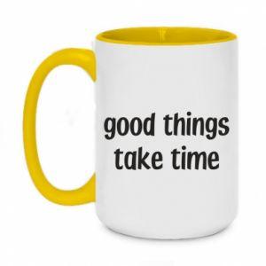 Kubek dwukolorowy 450ml Good things take time