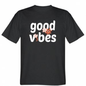 T-shirt Good vibes flowers