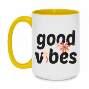 Kubek dwukolorowy 450ml Good vibes flowers