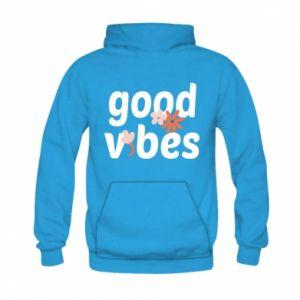 Bluza z kapturem dziecięca Good vibes flowers