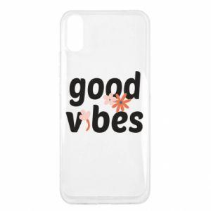 Etui na Xiaomi Redmi 9a Good vibes flowers